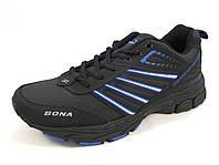 Кроссовки мужские BONA  кожаные, черные (Бона)(р.41,43,44)
