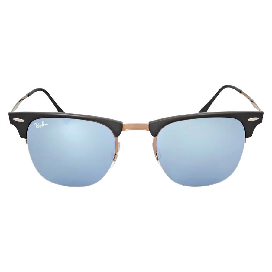 Солнцезащитные очки Ray-Ban Clubmaster Light 51MM Ray Green Mirror RB8056 176/30