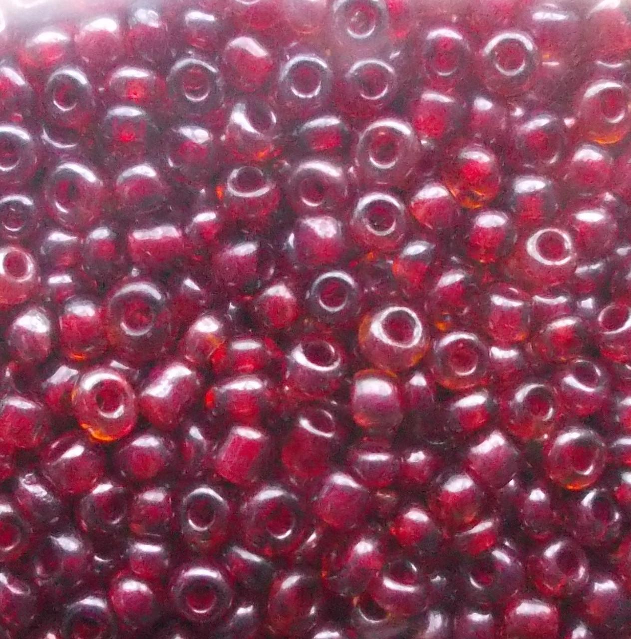Бисер китайский бордовый-стекло 50 грамм
