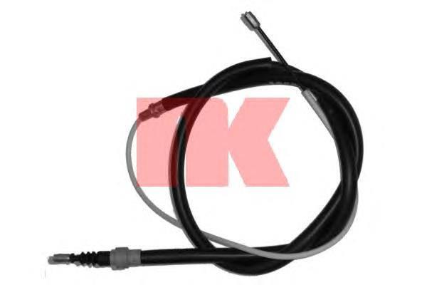 Трос ручника BORA GOLF 4 SKODA OCTAVIA (дисковые тормоза) 1.6 1.8 1.9D 08.97-06.01 производитель NK Германия, фото 2