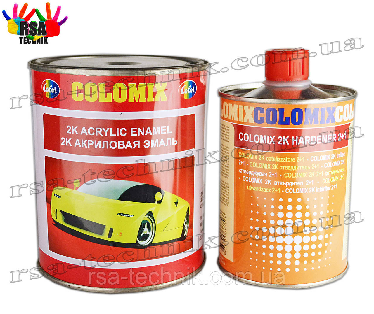 Colomix 2К акрилова емаль (Торнадо 170) з затверджувачем
