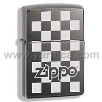 324678 - ZIPPO CHECKERBOARD BLACK ICE