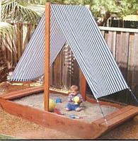 Песочница деревянная Лодочка для детей дизайнерская