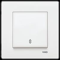 Выключатель проходной белый Viko (Вико) Karre (90960004)
