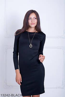 Класичне трикотажне чорне плаття Oreana (S-XXL)