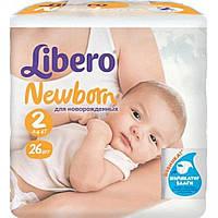 Подгузники детские Libero Newborn 2 3-6 кг 26 шт (7322540594515)