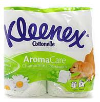 Бумага туалетная Kleenex Ромашка 3 слоя 4шт  (5029053545080)