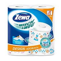 Полотенца бумажные Zewa Wisсh&Weg 2 слоя 2шт (7322540767384)