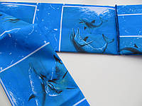 Шторка для ванной  Miranda SEA AQUARIUM синяя