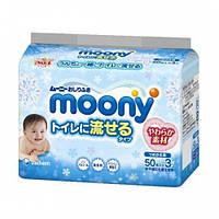 Детские влажные салфетки Moony 3х50шт (4903111182220)