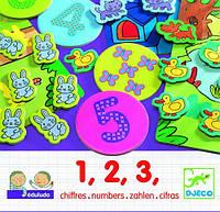 Игра для самых маленьких Djeco Развивающие  наклейки 1 2 3 (DJ08315)