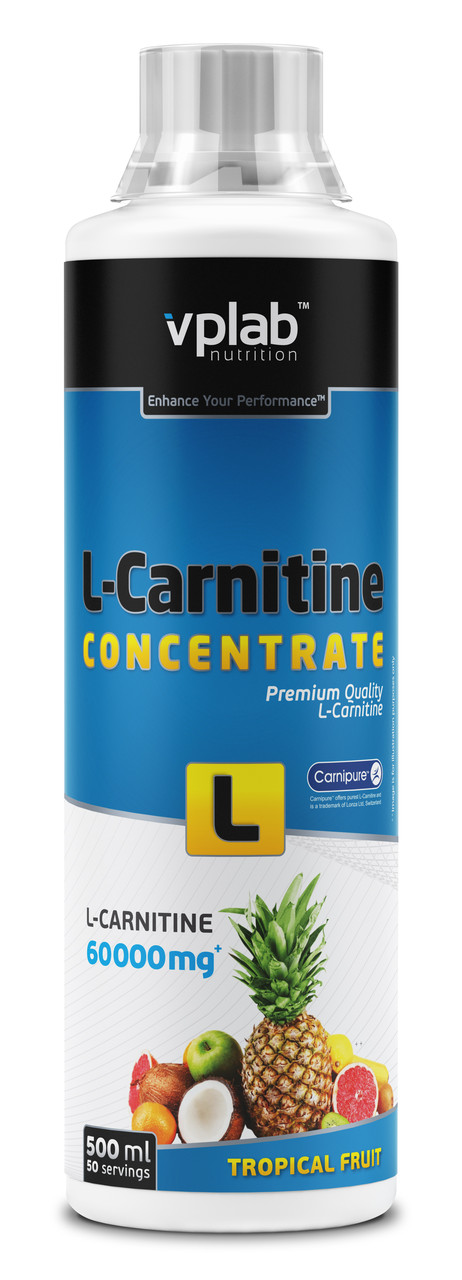 VPLab L-Carnitine Concentrate 60.000, 500 ml вп лаб л карнитин