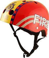 Шлем детский Kiddi Moto пожарный, красный, размер  M 53-58см (HEL-06-56)