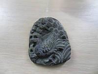 Кулон с натуральным камнем резная яшма.