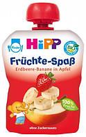 Фруктовое пюре HiPP Яблоко-Клубника-Банан  90 гр.(9062300129530)
