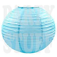Китайский фонарик голубой, 35 см
