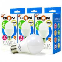 Набор LED ламп BIOM груша 10W 4500K E27 (по 3 шт.)