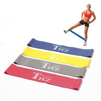 Фитнес резинки набор 4шт Эспандер резиновый для фитнеса Ленточный эспандер для ног рук