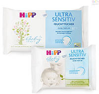 Детские влажные салфетки HiPP 10 шт. Ультра  нежные (4062300086906)