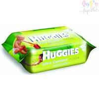 Салфетки влажные Huggies Ultra Comfort Aloe 64 шт (5029053534732)