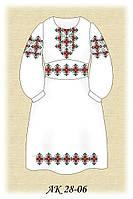 Заготовка платья для девочки для вышивания АК 28-06 габардин, белый