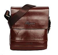 Коричневая мужская сумка небольшая через плечо (54119)