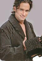 Чоловічий махровий халат Softcotton Platinum коричневий, фото 1