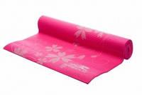 Коврик спортивный PowerPlay для йоги, с цветочками