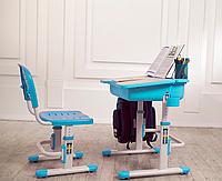 Комплект FunDesk Парта и стул-трансформеры Capri Blue+лампа FunDesk L1