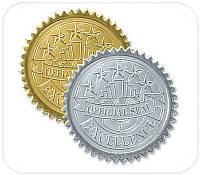 Лейблы для рельефной печати (золотые, серебряные)