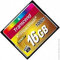 Карта Памяти Transcend CompactFlash 16GB 1000x (TS16GCF1000)