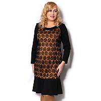 Женское платье большого размера нарядное с гипюром