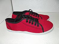 Новые красные кеды, 22,5 см стелька