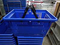 Корзина пластиковая покупательская 28 л, корзинки покупательские бу, корзинки самообслуживания 28 л. бу., фото 1