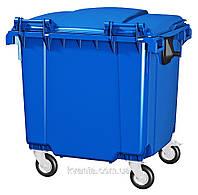 Передвижной пластиковый мусорный контейнер 1100 л