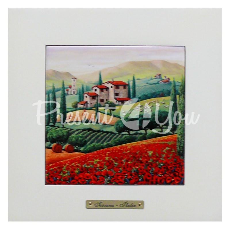 Панно настенное «Тоскана. Италия», 23х23, 14,5х14,5 см.