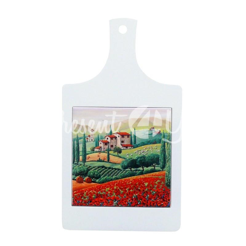 Доска для нарезки сувенирная «Тоскана. Италия», 32х18, 15х15 см.