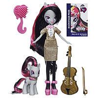 Девочки Эквестрии Май Литл Пони Герлз Октавия с питомцем и скрипкой, Equestria Girls Octavia Melody Pony Set