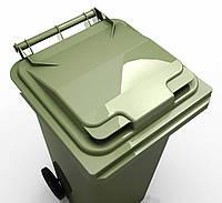 Передвижной пластиковый мусорный контейнер 120  л, фото 1