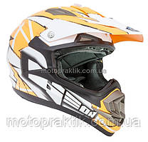 Шлем GEON 614 Кросс MX-Spirit Neon Orange XXS