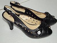 Женские босоножки на каблуке, р. 35 - 23,2 см стелька