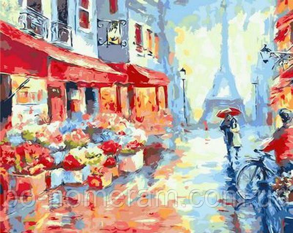 Картина-раскраска Mariposa Весенний дождь в Париже
