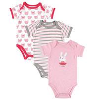 Комплект боди для младенцев HUDSON BABY Bunny 68