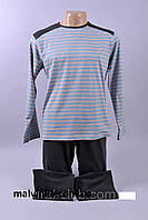 Мужская пижама ALTEDO длинный рукав в полоску Польша.