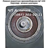Ремонт редуктора взбивальной машины ЦГ-103, шестерня, зубчатый венец на венгерку