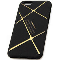 Чехол силиконовый Nillkin iPhone 6 matte black-gold
