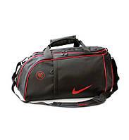 Спортивная сумка Nike черная с красным логотипом