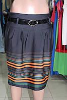 Молодежная юбка с полосами XL маломерка