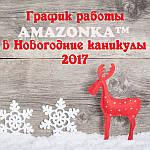 График работы AMAZONKA™ в период Новогодних праздников 2017.