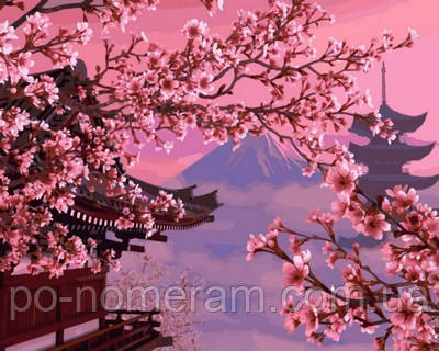 Картина для рисования Турбо Японский пейзаж